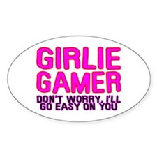 Girlie Gamer Oval Bumper Stickers