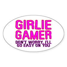 Girlie Gamer Oval Decal