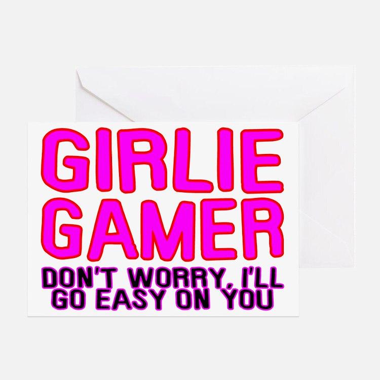 Girlie Gamer Greeting Card