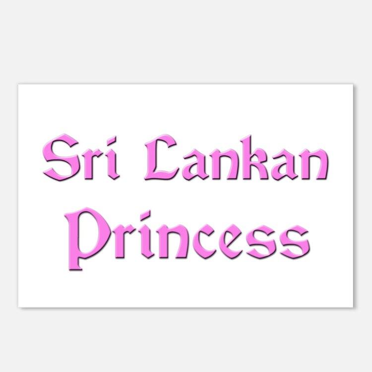 Sri Lankan Princess Postcards (Package of 8)