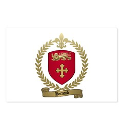 BERNARD Family Crest Postcards (Package of 8)
