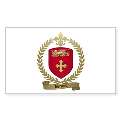 BERNARD Family Crest Rectangle Decal