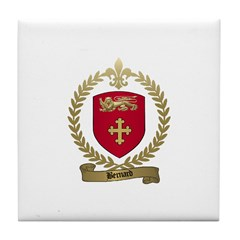 BERNARD Family Crest Tile Coaster