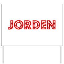 Retro Jorden (Red) Yard Sign