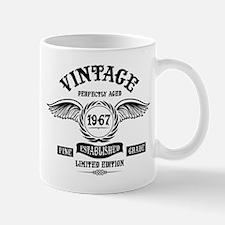 Vintage Perfectly Aged 1967 Mugs