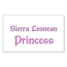 Sierra Leonean Princess Rectangle Decal