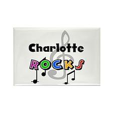 Charlotte Rocks Rectangle Magnet