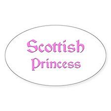 Scottish Princess Oval Decal