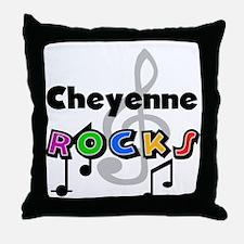 Cheyenne Rocks Throw Pillow