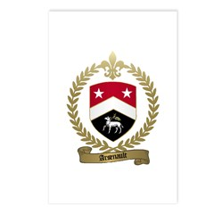 ARSENAULT Family Crest Postcards (Package of 8)