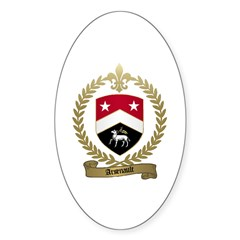 ARSENAULT Family Crest Oval Decal