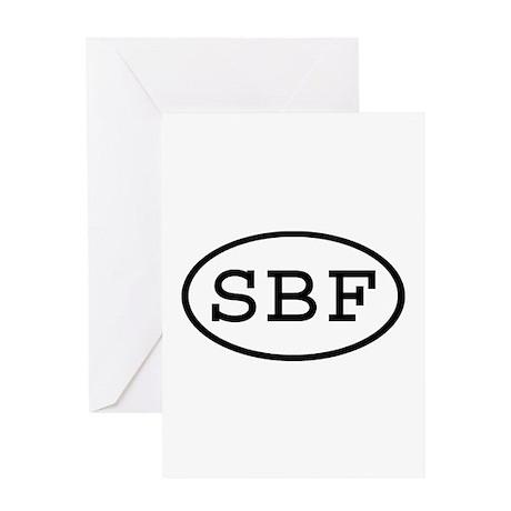 SBF Oval Greeting Card