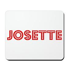 Retro Josette (Red) Mousepad