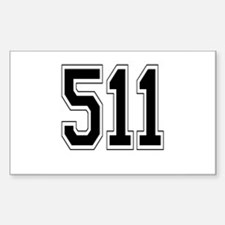 511 Rectangle Decal