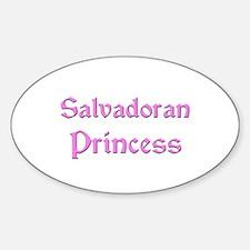 Salvadoran Princess Oval Decal