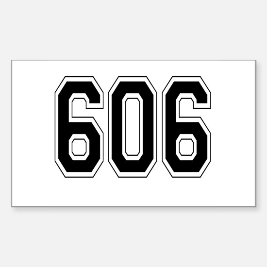 606 Rectangle Decal