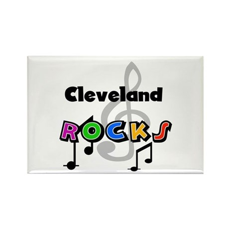 Cleveland Rocks Rectangle Magnet