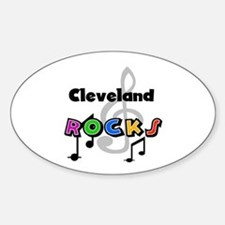 Cleveland Rocks Oval Decal