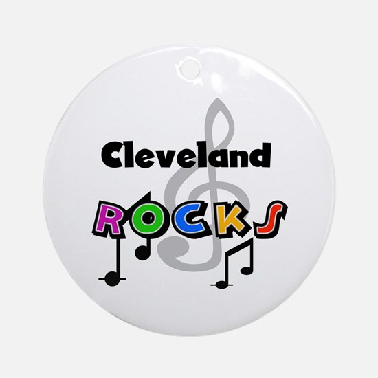 Cleveland Rocks Ornament (Round)