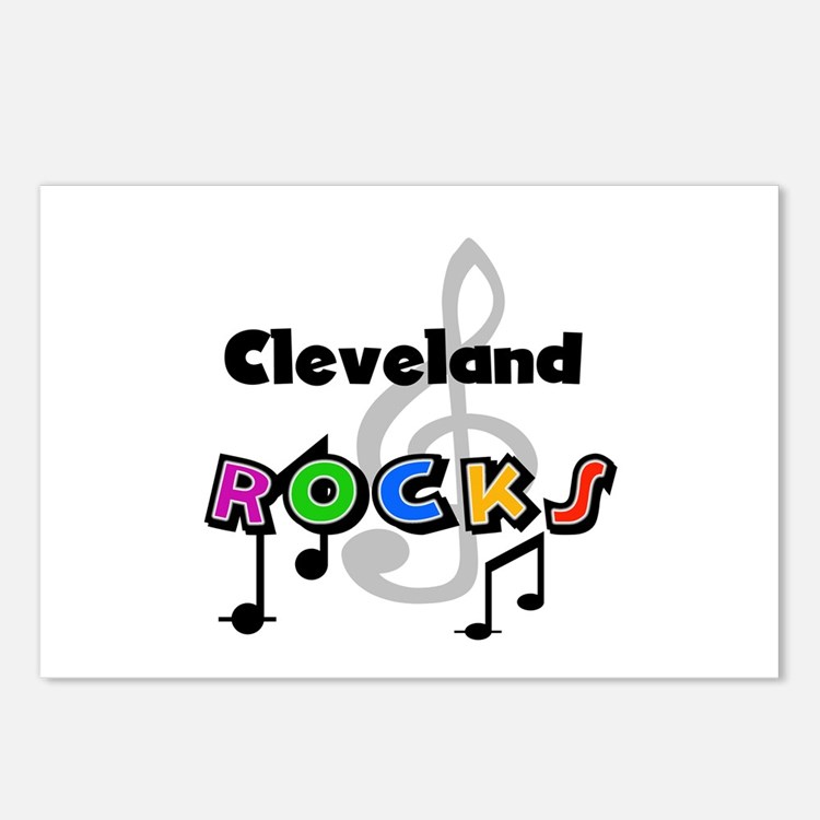 Cleveland Rocks Postcards (Package of 8)