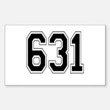 631 Rectangle Decal