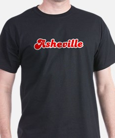 Retro Asheville (Red) T-Shirt