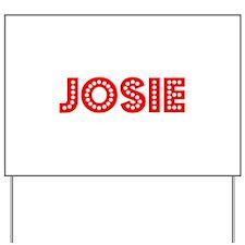 Retro Josie (Red) Yard Sign