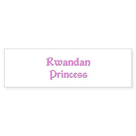Rwandan Princess Bumper Sticker