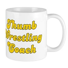 Retro Thumb Wrest.. (Gold) Mug