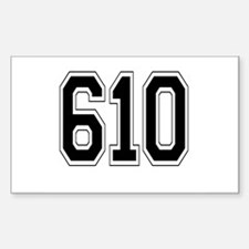 610 Rectangle Decal