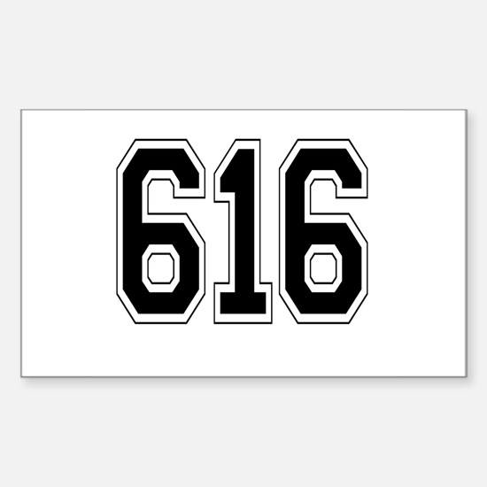 616 Rectangle Decal