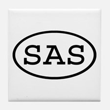 SAS Oval Tile Coaster
