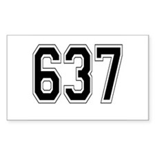 637 Rectangle Decal