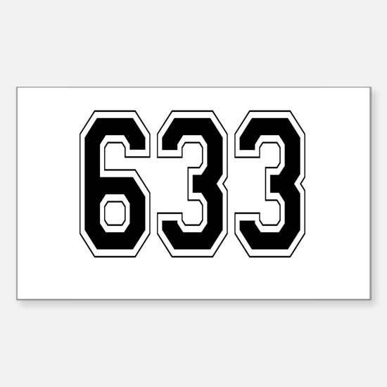 633 Rectangle Decal