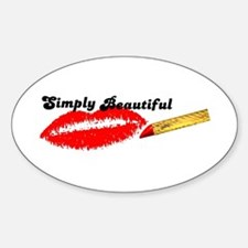 SIMPLY BEAUTIFUL HOT LIPS Oval Decal