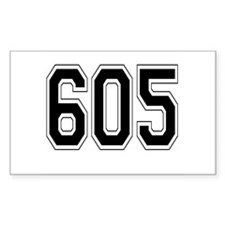 605 Rectangle Decal