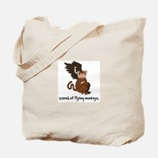 Scared of Flying Monkeys from Tote Bag