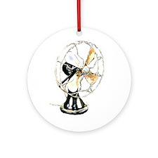 Riyah-Li Designs Vintage Fan Ornament (Round)