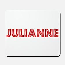 Retro Julianne (Red) Mousepad