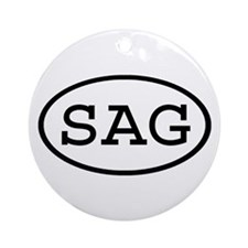 SAG Oval Ornament (Round)