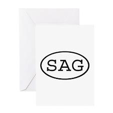 SAG Oval Greeting Card