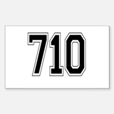 710 Rectangle Decal