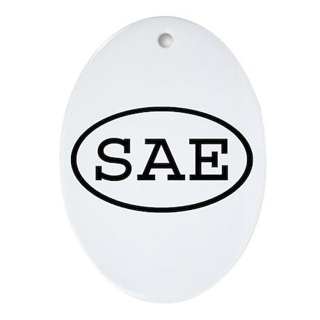 SAE Oval Oval Ornament