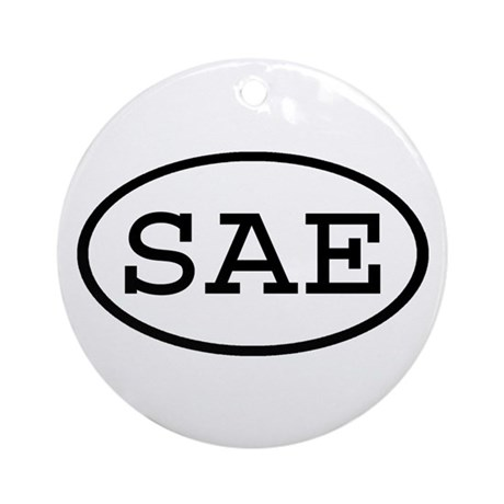 SAE Oval Ornament (Round)
