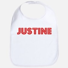 Retro Justine (Red) Bib