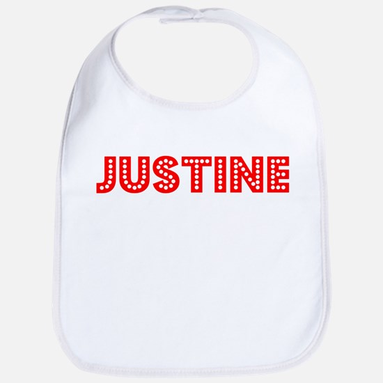 Retro Justine (Red) Bib