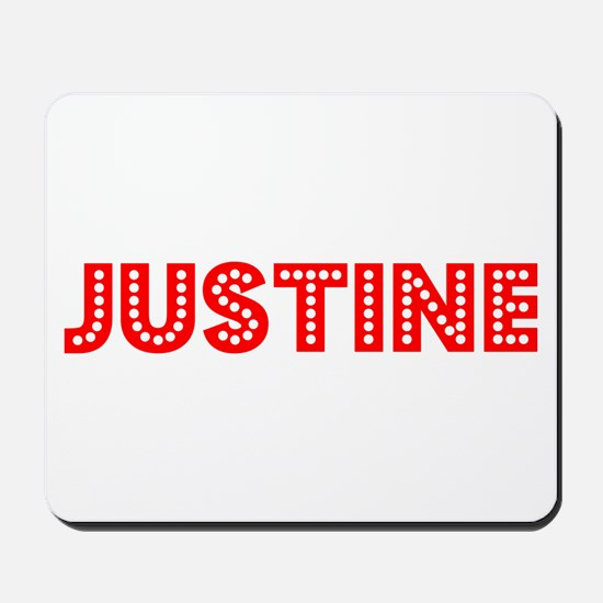 Retro Justine (Red) Mousepad