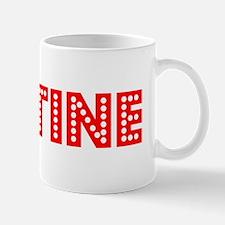 Retro Justine (Red) Small Small Mug