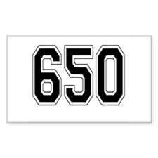 650 Rectangle Decal