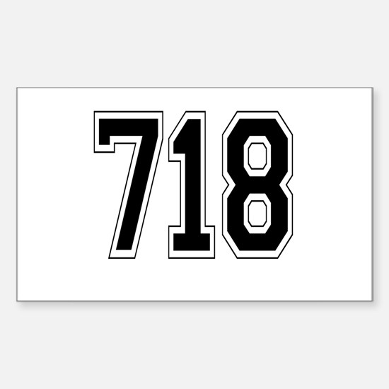 718 Rectangle Decal